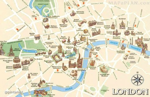 London Tourist Attractions Map