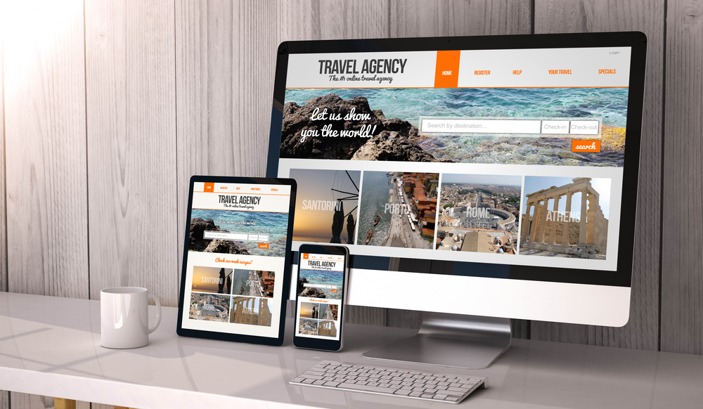 On the internet Travel Agencies travel agency logo mockup